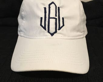 Monogrammed baseball hat.  Many colors to choose from