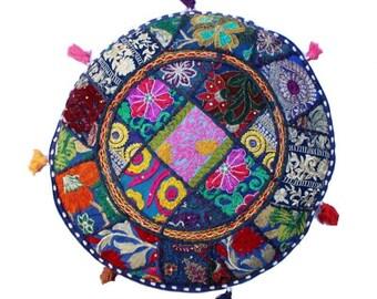 indian handmade round floor cushion coverhome decorative patchwork gypsy beautiful boho