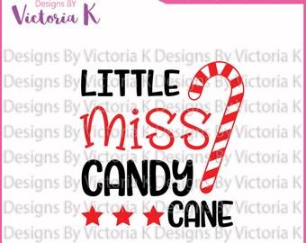 Little Miss Candy Cane, Christmas svg, SVG, DXF Cut Files, Cricut Design Space, Vinyl Cut File