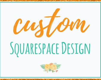Squarespace Website Design, Custom Squarespace Web Design, Squarespace Design, Squarespace Blog Design, Blog Website Design, Custom Website