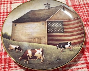"""the American Folk Art Collection """"Proud Pasture"""" collector plate"""