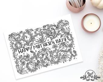 Happy Mother's Day Ethnic Digital Print