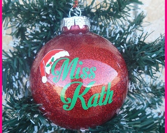 Personalised Name Baubles (Teacher Gifts)