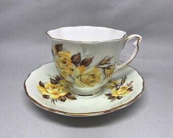 Vintage Colclough China Tea Cup & Saucer