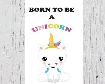 Unicorn Birthday Card (Magical, Sweet, Rainbow, Happy Birthday)