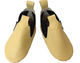 Yellow Toddler Boots, Soft Sole Boots, Leather Baby Boots, Boys Toddler Boots, Girls Boots, baby boots leather, toddler leather shoes,