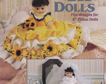 Beautiful Bed Dolls, American School of Needlework Crochet Doll Clothes Pattern Booklet 1179 RARE