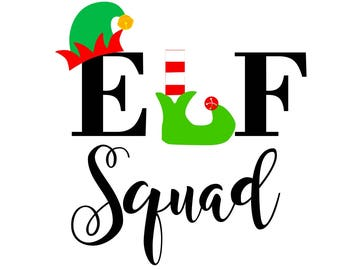 Elf squad svg, elf svg, christmas svg, svg elf squad, svg elf, svg christmas, santa svg, squad goals svg,svg squad goals,elves svg,svg elves