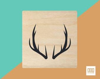 Antlers - 3cm Rubber Stamp (DODRS0111)