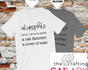 Ailurophile Cat Person Graphic T-Shirt