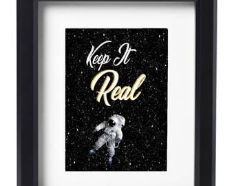Keep It Real afro-futurist poster art