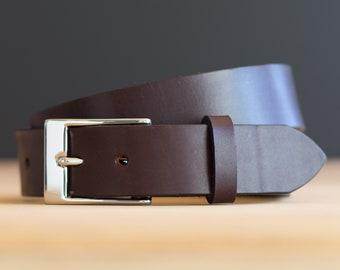 Custom Handmade Leather Belt, Gift for Him, Husband 3rd Anniversary, Wedding, Groom, Groomsmen, Best Man, Graduate, Boyfriend, Father, Dad