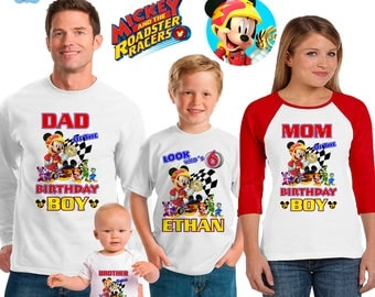 mickey roadster racers inspired family birthday theme shirt/mickey mouse birthday shirt/Disney vacation shirt/mickey birthday party shirt
