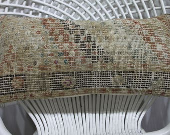 "nautical style kilim pillow cover 12"" x 20"" kilim pillow couch pillows lumbar pillows vintage kilim cushion coverructic kilim lumbar 866"