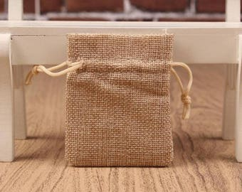 Natural Jute Bags Burlap Bags Hessian Hemp Drawstring Bags Pouch Wedding Favor Gift Burlap Packaging Bags Jewelry Party Recycle Bags