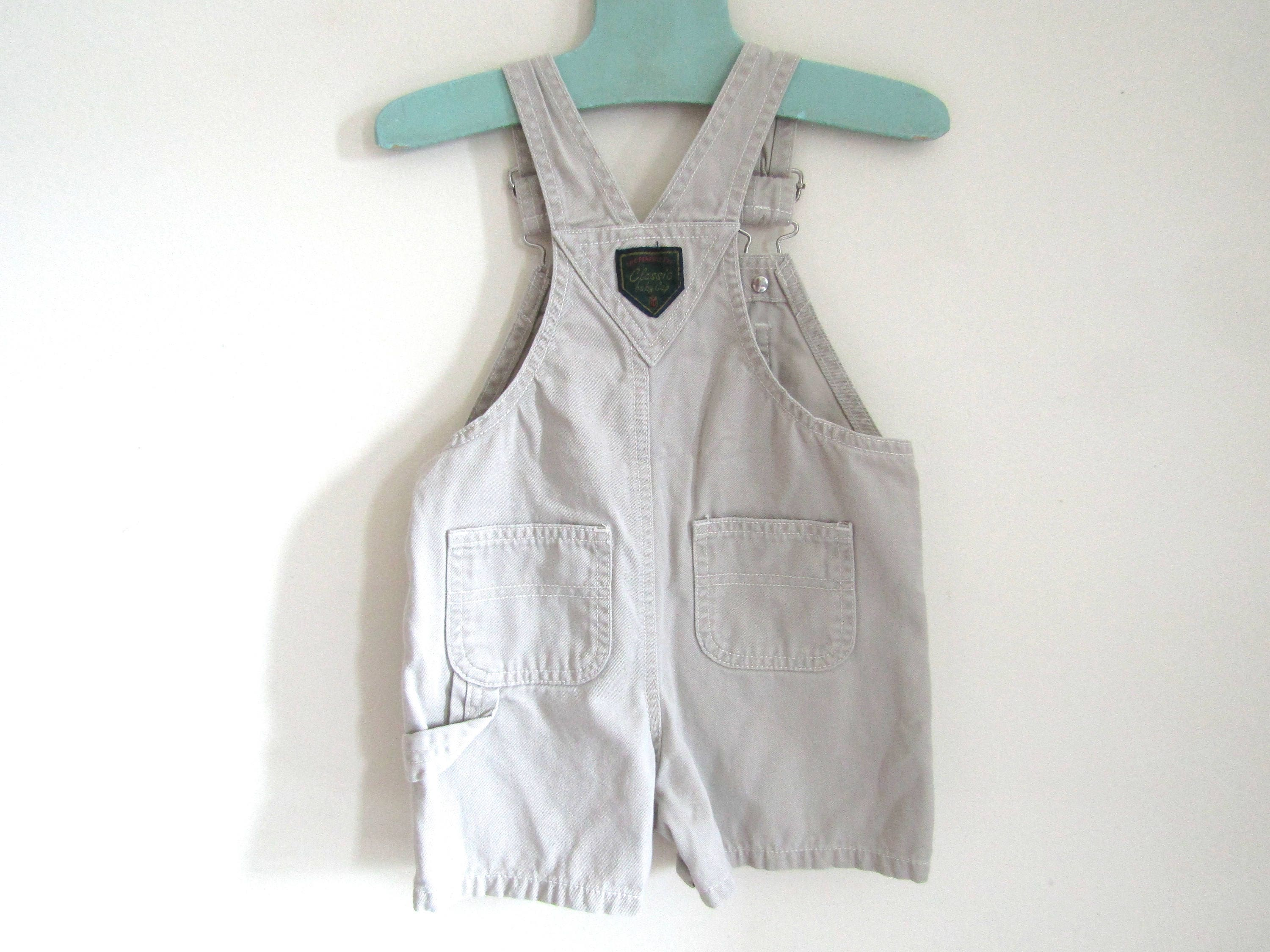 6 12 MOS Baby Gap Khaki Tan Uni Shortalls or Overalls Shorts