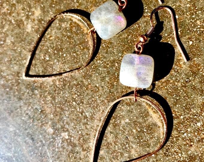 Teardrop Labradorite Copper Drops