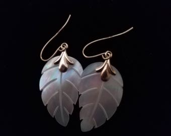 Carved Mother of Pearl Earrings
