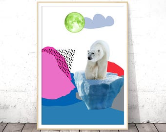 Bear Print, Nursery Printables, Bear Nursery Decor, Kids Art Prints, Kids Room Art, Printable Art, Woodland Nursery, Nursery Animal Print