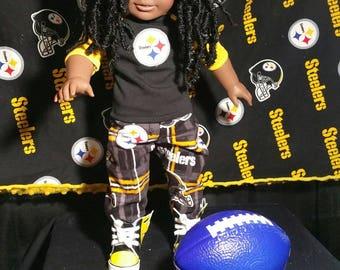 OOAK American GIRL Doll Boy Steelers