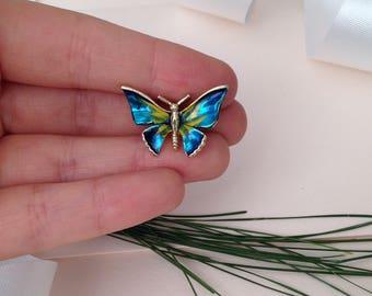 Blue Butterfly Pin - Brooch - Blue Brooch - Butterflies - Small Butterfly - Good Lucky Pin - Lucky Brooch - Animal Brooch - Girl's Brooch