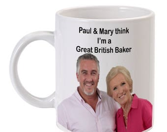 The Great British Bake Off, Paul Hollywood Mary Berry Fun Mug
