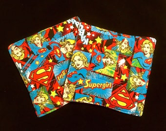 Supergirl Pot Holders - set of two