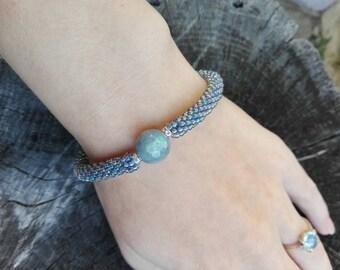 Beaded bracelet, natural stone bracelet, labrodorite bracelet, handmade jewelry, handmade bracelet, beaded jewelry, stone bracelet, gift