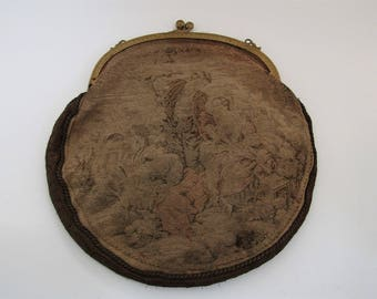 Antique/Vintage(?) French Tapestry Purse