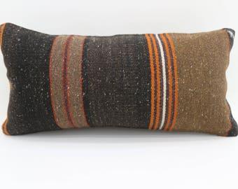10x20 kilim pillows striped pillow wool pillow bed pillow turkish pillow lumbar cushion cover vintage kilim pillows throw pillow SP2550-1708