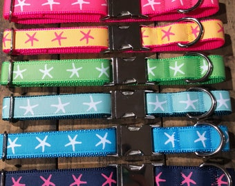 Starfish Dog Collar, Sew Fetch Dog Collar