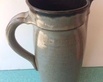 1963 Sasha Makovkin Pitcher Stoneware Pottery