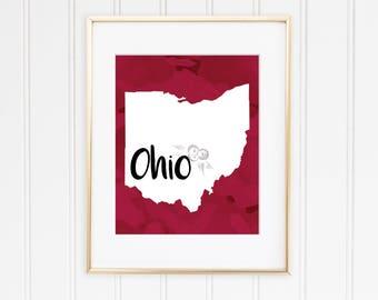 Ohio State Digital Print
