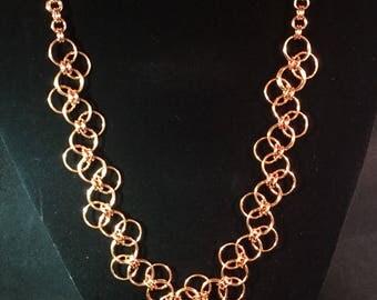 Copper bubbles necklace