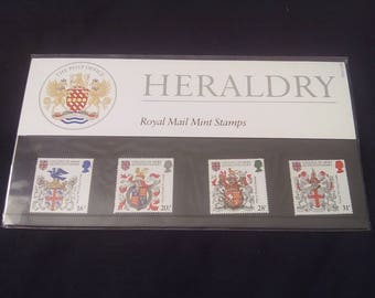 Royal mail stamps Heraldry stamp presentation pack No150
