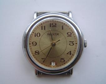 Vintage Wrist Watch USSR RAKETA - Serviced Good Condition