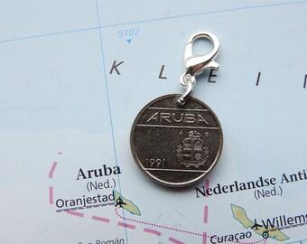 Aruba original coin charms - 3 different designs - Lesser Antilles - Island gift