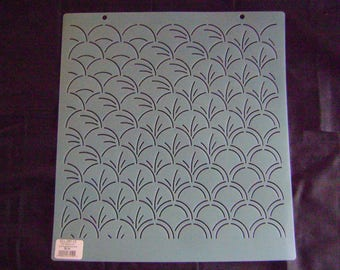 Sashiko Japanese Embroidery Stencil 12 in. Sashiko Asian Motif Block/Quilting