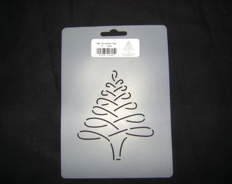 Sashiko Japanese Quilting/Embroidery Stencil 4 in. Christmas Tree Motif Block /Quilting/895