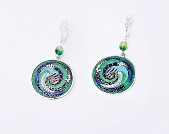 Earrings by Cloisonne Enamel