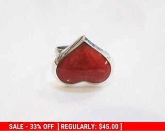 Jewelry Heart, Ring Heart, Love Jewelry, Love Ring, Sterling Silver Heart Ring, Love Heart Ring, Red Heart Ring, Adjustable Silver Ring, Red