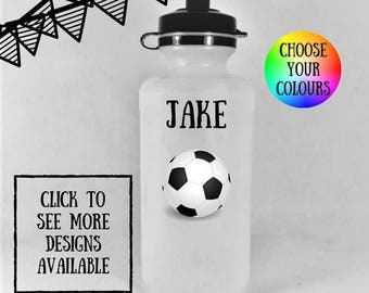 Personalized kids water bottles, water bottle kids, personalized water bottle, personalized drink bottle, kids water bottle, football gifts