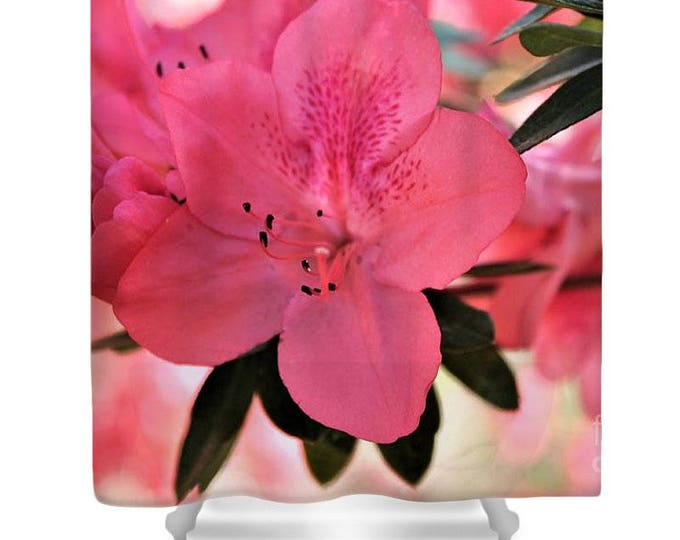 """Shower Curtain """"Pink Flower Party"""""""