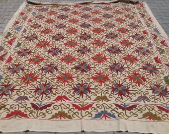 WOW DISCAUNT!!!Vintage Textile ,Bed Covers,bedspread,handmade textile,suzani wall hanging, table cover ,handmade cover,suzani