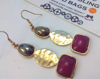 Vintage 6.5cm earrings, drop earrings, vintage earrings, long earrings, drop earrings, dangle earrings, vintage drop earrings, long earrings