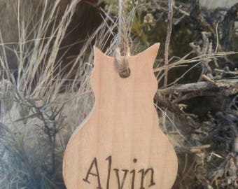 Personalized Cat Outline Christmas ornament