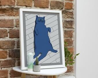 Relaxed Cat A3 Giclée Print