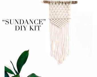 Macrame KIT Wall Hanging DIY || Driftwood + Cotton Rope || Creative Gift for Her || Simple Easy Design for Beginner