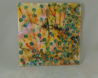"Hand Painted Art Tile 6""x6"""