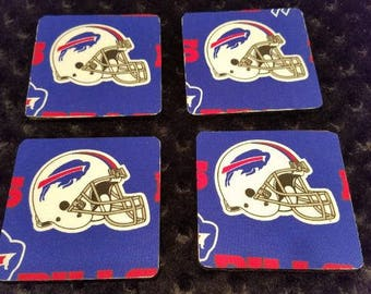 Buffalo Bills 4 Pack Coaster Set